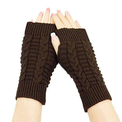 ESAILQ Mode gestrickt Arm fingerlose Winter Handschuhe Unisex weichen warmen Handschuhen