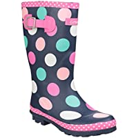 Cotswold Dotty Girls Synthetic Material Wellies Multi