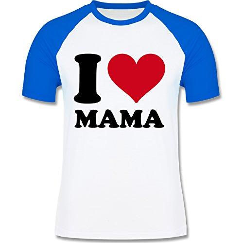 I love - I Love Mama - zweifarbiges Baseballshirt für Männer Weiß/Royalblau