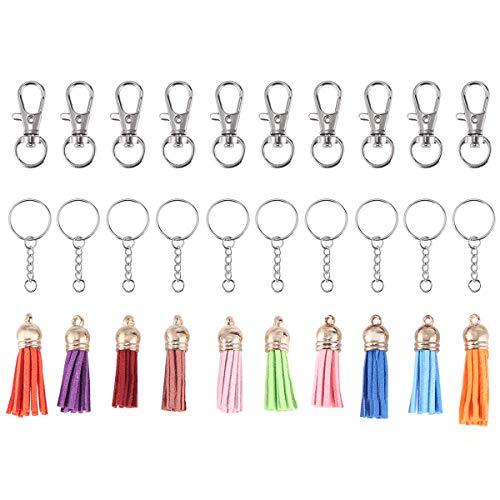in Rings Bulk mit Quaste für Quaste Keychain Keychain Ringe mit Kette Keychain Set ()
