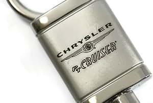 Chrysler PT Cruiser-plaque Satin-Chrome-Valet porte-clés avec Logo Authentic-clé avec dragonne et porte-clés