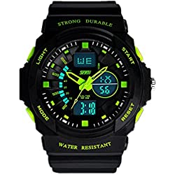 SAMGU 2014 Fashion Para Rubber Men's Military Watch Sport Digital Clock Waterproof Green