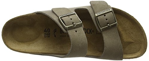 Birkenstock Unisex-Erwachsene Arizona Sandalen Beige (Taupe Finish)