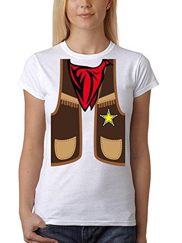 ::: COWBOY ::: Girls T-Shirt ::: auch im Unisex Schnitt Weiß