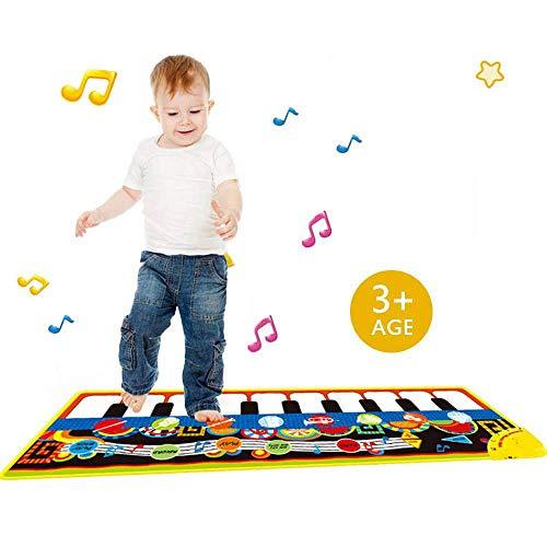 Teepao Klavier-Spielmatte, tragbare Spielmatte für Kinder, Kleinkinder, Mädchen, Jungen, mit Einstellbarer Lautstärke, Lautsprecher, Aufnahme, Faltbare Funktion (Kleinkind-klavier)