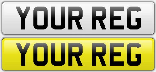 Pair Standard GB Euro Number Plates 100% MOT Compliant - Car / Van Test