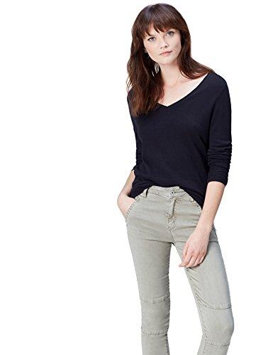 Find pullover con scollo a v donna , blu (navy), 42 (taglia produttore: small)