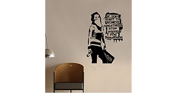 UK Many colours Banksy Graffiti Maid In London Art Wall Stickers 60cm x 80cm