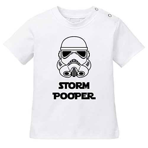 ShirtWorld - Storm Pooper - Baby T-Shirt 68-74 Weiß (70 Weiße T-shirt)