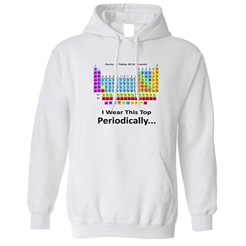 Tim And Ted I Wear This Periodically Periodic Table Science Geeky Elements Nerdy Fiction Education Scholar Research Funny Unisex Hoodie Cool Funny Gift Present