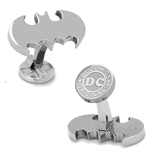DC Comics Batman Manschettenknöpfe Silber Superhelden Hochzeit + Geschenkbox
