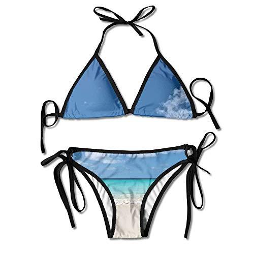 h Clouds Sea Sexy Bikini Swimsuit Suit Set Triangle Swimwear ()