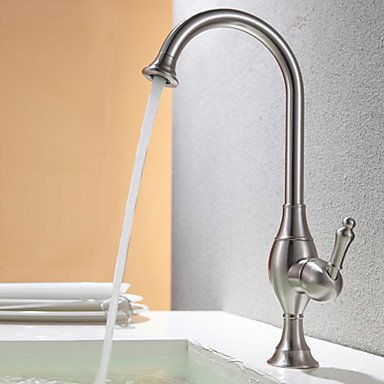 SHUYOU® Contemporary Nickel Brushed Rotatable Kitchen Faucet