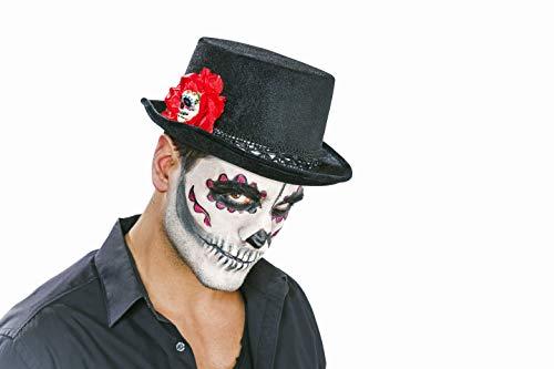 Matrodo- Samtzylinder schwarz Motiv Tag der Toten/ Day of The Dead/ Dia de los Muertos