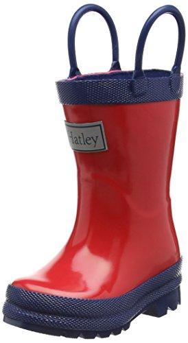Hatley Rainboots -Red & Navy, Girls' Rain Boots
