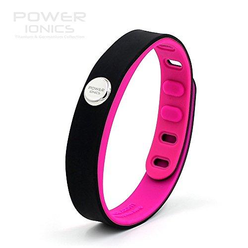 Power Ionics Bracelet Armband Powerarmband PowerIonics Ionenarmband Energie Wristband Magnet Armband 3000 Ions Smart Sports Bracelet Wristband PT066 (Hi.Light black purple)