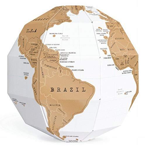 Wisdom scratch globe fun scratch map travel fai da te la mappa del mondo mappa creativa mini, come mostrato, taglia unica