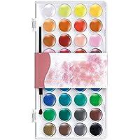 Hrph 12/16/28/36 Couleurs Ensemble Aquarelle Peinture Extérieur Pigment Set Transparent Boîte Aquarelle Peinture Solide Gâteau Enfant