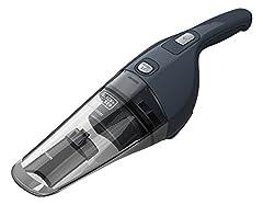 Idea Regalo - BLACK+DECKER NVB215WA-QW Dustbuster Aspiratore Ricaricabile, Batteria al Litio 1.5 Ah, Capacità 370 ml, 0.61 Kg, Grigio Scuro