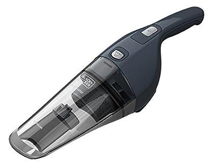 Black+Decker NVB-215-WA - Recoge todo ciclónico, 7.2 V, batería de litio, sólidos, color gris
