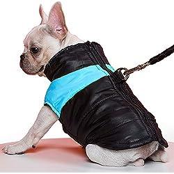 TFENG Abrigo De Perro Chaleco Acolchado Con Relleno Tibio Impermeable Con Forro Polar