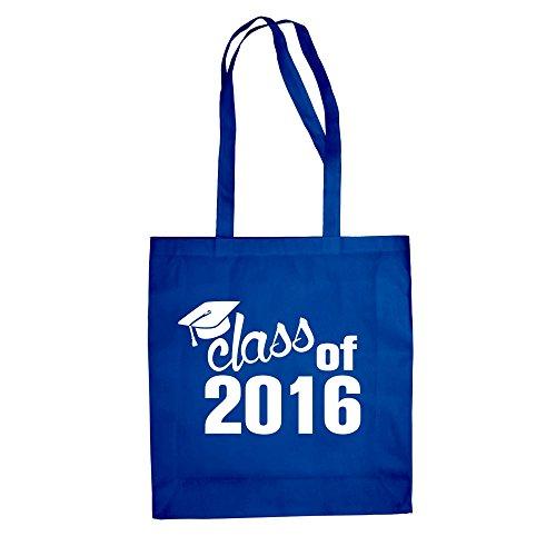 Borsa Di Cotone In Juta - Classe Del 2016 - Dal Reparto Camicia Royal Blue-white