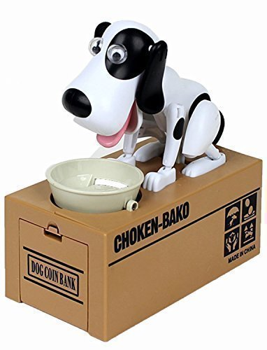 Virtuous * Piggy Bank Coin Munching Toy ,Automated Cute Dog Steal Coin Bank,Money Banks