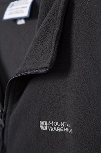 ... Mountain Warehouse Alder Herren Mikrofleece warme Weste Bodywarmer  Wandern Hiking Trekking Ärmellose Jacke Schwarz