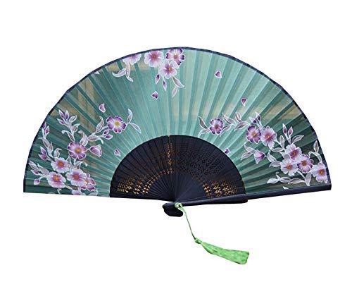 Black Temptation Chinesische Retro-Stil Bambus Falten Hand Fan (Kostüme Halloween Chinesische Uk)