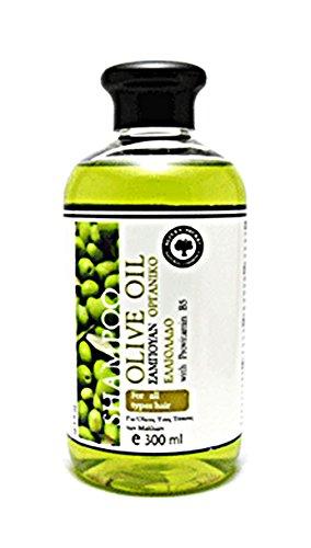 Olive Secret Shampoing avec huile d'olive Vvirgin Extra Bio et provitamine B5 fabriqué en Grèce – 300 ml