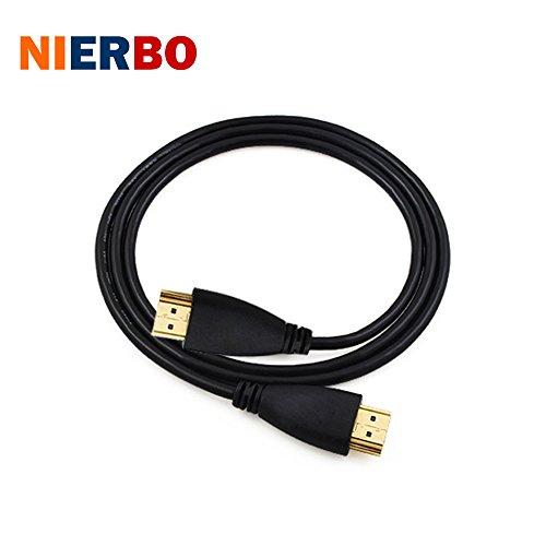 NIERBO Cable 2m HDMI V 1.4 Xbox 360, PS3, 3D TV, etc. Conectores Cable HDMI macho a macho