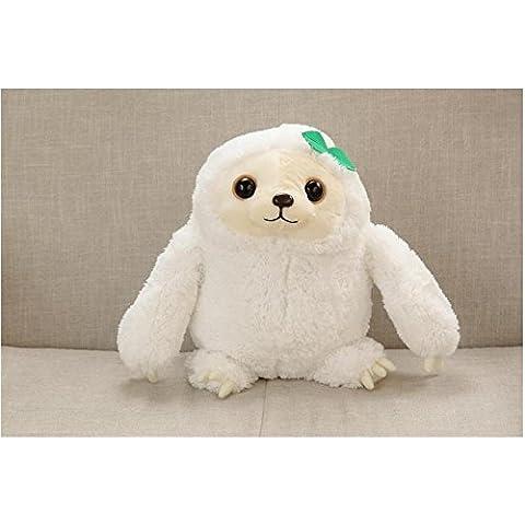 DIS Cuddly peluche pupazzo morbido peluche Fuzzy Bradipo Giocattolo per bambini o adulti marrone bianco, White, 50