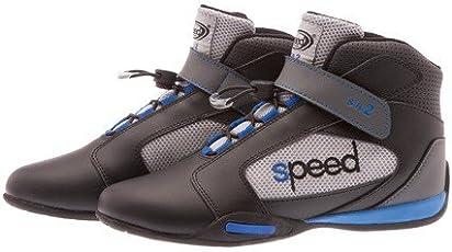 Kartschuhe Modell Speed SR2 - Schwarz/Grau/Blau - Speed Racewear - Premium Kartschuh