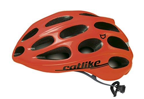 Catlike Olula Casco de Ciclismo, Unisex Adulto, Naranja (Fluor), L/60-62 cm
