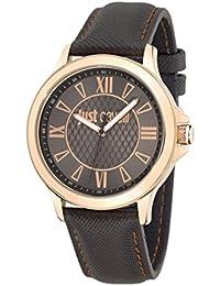 Just Cavalli Herren-Armbanduhr JUST IRON Analog Quarz Leder R7251596001