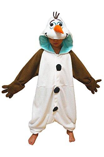 Für Kostüm Olaf Pyjama Erwachsenen - Fleece Pyjama Kigurumi - Olaf (DISNEY) Frozen (Die Eiskönigin) 110cm