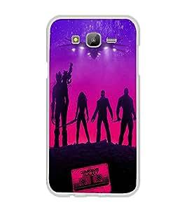 Printvisa Vector Aliens Pic Back Case Cover for Samsung Galaxy J7::Samsung Galaxy J7 J700F