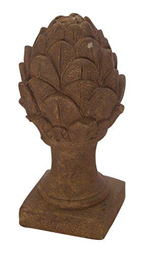 DARO DEKO Stein-Skulptur Pinienzapfen groß Rost-Braun