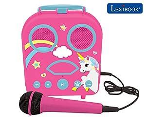 Lexibook, alta, Unicornio-Karaoke Micro Star
