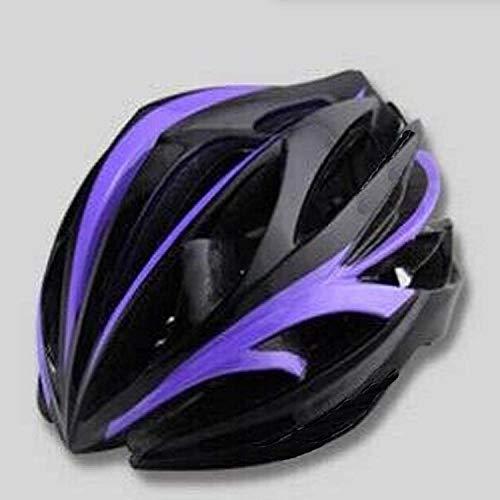 sjdxd Fahrradhelm ultraleichter Rennrad Mountainbike Reithelm@Schwarz lila_Eine Größe