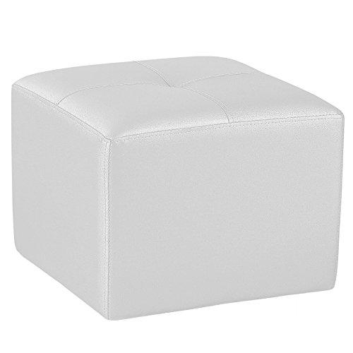 Adec - Pouf polipiel, medidas 50 x 50 cm, color blanco
