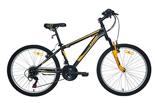 """Umit Bicicleta 24"""" XR-240 Negro. con Cambio Shimano 18V Y Suspension Delantera"""