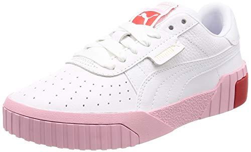 Puma Damen Cali WN's Sneaker, Weiß (Puma White-Pale Pink), 39 EU - Damen Pink Schuhe
