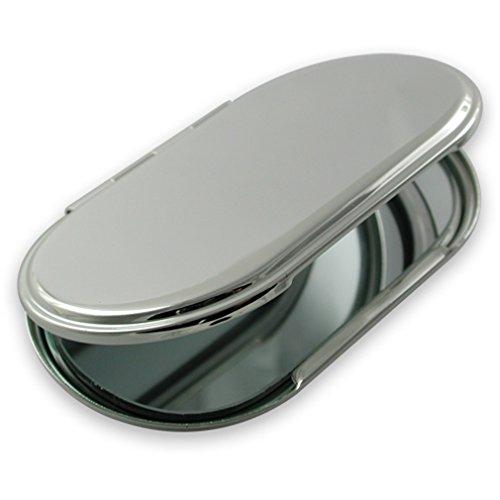 Versilbert oval Handtasche Spiegel