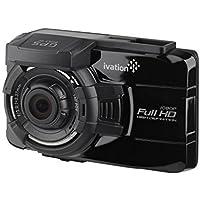 Ivation-Dash Cam 1080p HD Video & registratore GPS, Wi-Fi 140°, grandangolo, rilevazione movimento, sensore G, 5-Lente in vetro a luce bassa WDR Dashcam & HDR