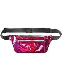 Women Men Shiny Metallic Wasit Bag Fashion Reflective Chest Bag Laser Waterproof PU Pack Bum Bag For Outdoor Beach... - B07H3RJ62Y