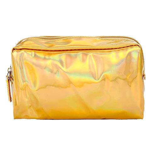 Bobopai Pencil Case, 1PC Colorful High Capacity Stationery Pen Pencil Case Cosmetic Bag Travel Makeup Bag (Gold)