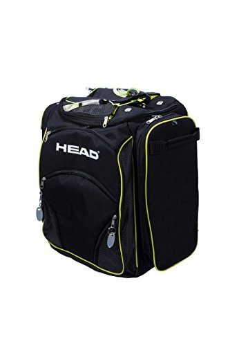 Head Heatable Bolsa para Botas, Black/Neon Yellow, 45 x 40 x 25 cm, 40 L
