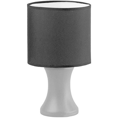 Promobo - Lampe Design Baroque Pieds Argenté Abat Jour Coloris Noir