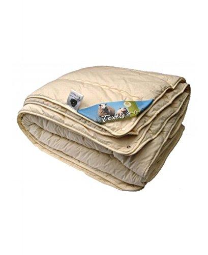 Isleep Deckbett Wolle 4-Jahreszeiten Texel Komfort-Lits Jumeaux-240 x 220cm